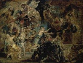 Peter Paul Rubens: Der Tod Heinrichs IV. und die Deklaration der Regentschaft Maria de Medici's