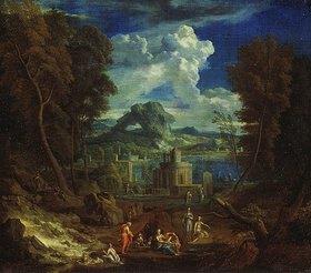 Pieter I. Rysbraek: Landschaft mit badenden Nymphen