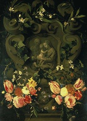 Daniel Seghers: Madonna mit hl. Elisabeth und Johannes d.T