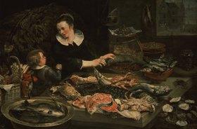 Frans Snyders: Die Fischverkäuferin