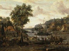 Abraham J Storck: Ein Fluss-Hafen