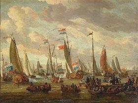 Abraham J Storck: Zar Peter I. beim Besuch von England im Jahre