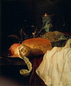 Juriaen van Streek: Früchte, Brot und Wein