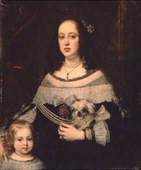 Justus Sustermans: Bildnis einer Dame mit einem kleinen Mädchen