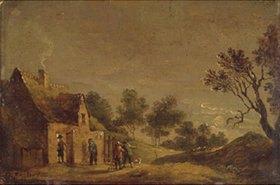 David Teniers: Mondnacht vor einem Wirtshaus
