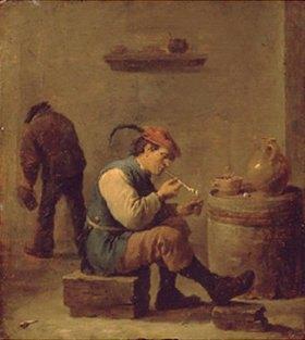 David Teniers: Der Raucher. 1630er Jahre