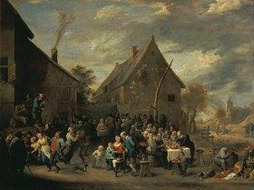 David Teniers: Hochzeitsfest auf dem Dorf