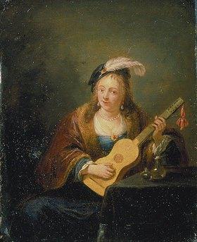 David Teniers: Frau mit Gitarre