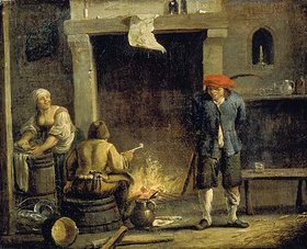 David Teniers: Am Kaminfeuer