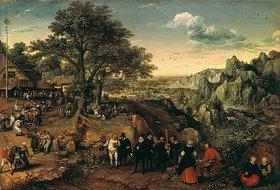 Lucas I. van Valckenborch: Landschaft mit ländlichem Fest. 1580-er/1590-er Jahre