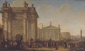 Willem van de Velde d.J.: Triumphzug in antiker Landschaft