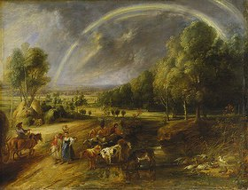 Peter Paul Rubens: Landschaft mit Regenbogen. Nach