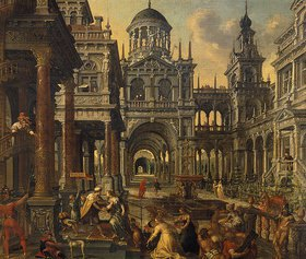 Hans Vredeman de Vries: Salomo und die Königin von Saba