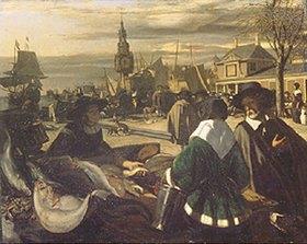 Emanuel de Witte: Markt am Hafen. 1660-er Jahre