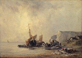 Richard Parkes Bonington: Boote an der Küste der Normandie