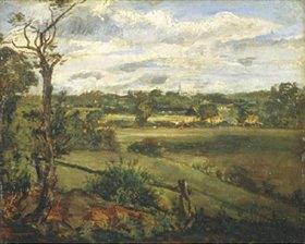John Constable: Blick auf Highgate von Hampstead Heath aus