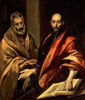 Greco El (Dominikos Theotokopoulos): Die Apostel Petrus und Paulus