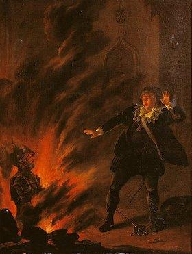 Englisch: Hamlet und der Geist seines Vaters. (1. Viertel 19. Jahrhundert)