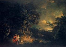 Thomas Jones: Landschaft mit Dido und Aeneas