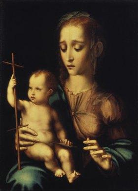 Luis de Morales: Maria und das Jesuskind mit dem Kreuz