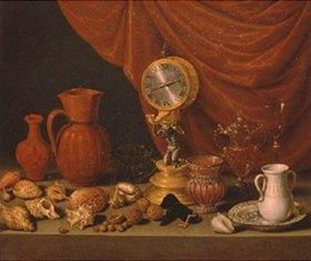 Antonio de Pereda: Stillleben mit Uhr
