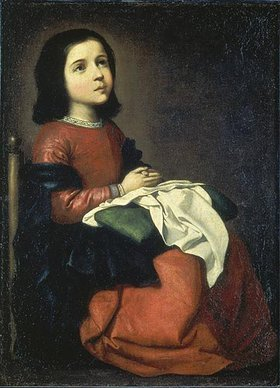 Francisco Zurbaran y Salazar: Die Hl. Maria als Kind