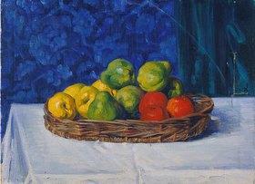 Ottilie Roederstein: Stillleben mit Äpfel auf einem Tisch