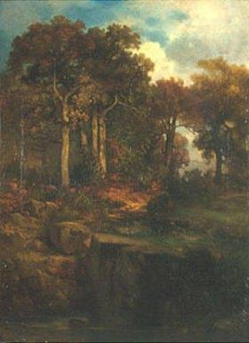 Anton Teichlein: Waldlandschaft