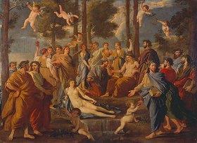 Nicolas Poussin: Der Parnass. (Apollo in der Mitte)