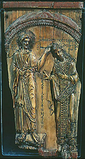 byzantinisch Ikone: Christus krönt Konstantin VII. (5. Jahrhundert)