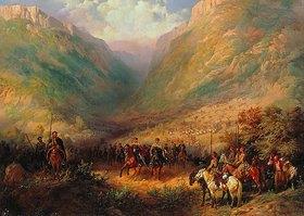 Anonym: Zar Alexander II. in den kaukasischen Bergen (1. Hälfte 19. Jahrhundert)