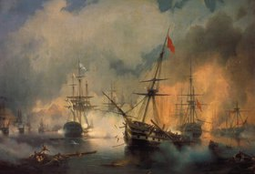 Konstant.Iwan Aiwassowskij: Die Seeschlacht von Navarin