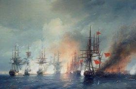 Konstant.Iwan Aiwassowskij: Russisch-Türkische Seeschlacht von Sinop am 18. November