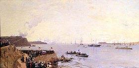 Alexander Beggroff: Die Ankunft des Zaren Alexander II. in Sewastopol