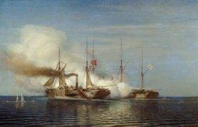 """Alexej Petrowitsch Bogoljubov: Die Fregatte """"Vladimir"""" erobert das türkische Schiff """"Pervaz Bakhr"""""""