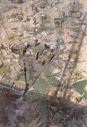 Isaak Brodskij: Die Erbauung der Dnjeprostroj