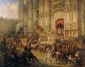 Adolf Charlemagne: Der feierliche Empfang von A. Suvorov in Mailand im April