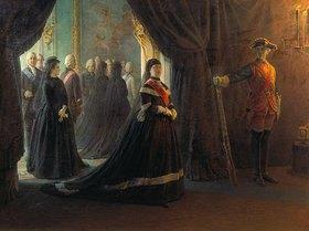 Nikolai Gay: Katharina II. am Grab der Kaiserin Elisabeth