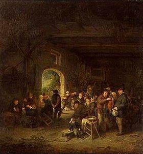 Adriaen van Ostade: Tanz in der Bauernstube