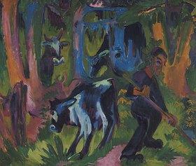 Ernst Ludwig Kirchner: Kühe im Wald