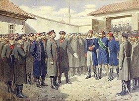 Alexej Kivschenko: Verwundeter osmanischer Pascha nach dem Fall von Plevna vor Zar Alex. II