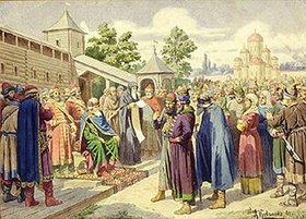 Alexej Kivschenko: Verlesung des Gesetzes in Anwesenheit des Grossfürsten Jaroslaw