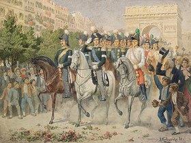 Alexej Kivschenko: Russische und alliierte Truppen beim Einzug in Paris