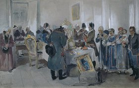 Klawdij Wassiljew Lebedjeff: Versteigerung von Leibeigenen