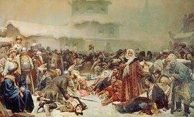 Klawdij Wassiljew Lebedjeff: Die Zerstörung des Versammlungshauses von Nowgorod