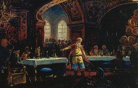Konstantin Jegor Makovskij: Fürst Repnin auf einem Ball Iwans des Schrecklichen. 1860-er Jahre