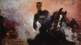 Ilja Efimowitsch Repin: König Albert I. von Belgien bei der Explosion eines Staudamms