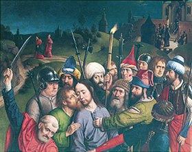 Dieric d.Ä. Bouts: Die Gefangennahme Christi (Detail)