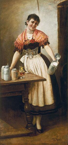Toni Aron: Die schöne Coletta. Bierkellnerin im bürgerlichen Bräuhaus