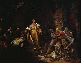 Nikolaj Semenowitsch Shustov: Zar Iwan III. und der tatarische Khan